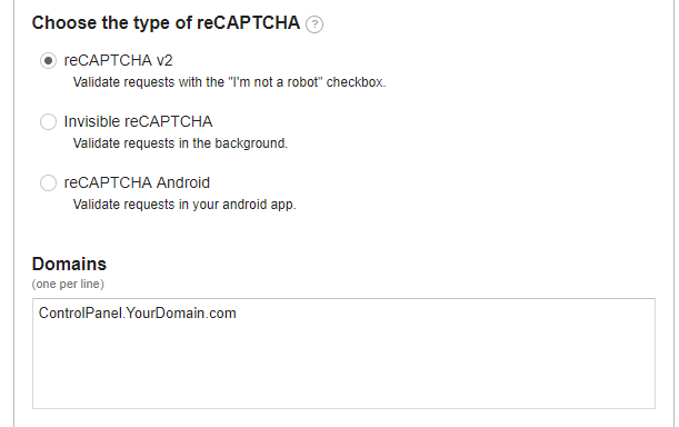 How to enable Google reCAPTCHA on Hosting Controller login page