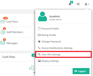 How can 2 factor authentication be achieved for Hosting Controller