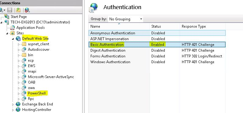 How To enable Remote Power Shell for HC in Exchange 2010